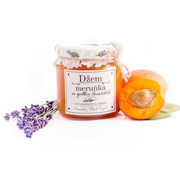 meruňkový džem nebo meruňková marmeláda s levandulí z naší levandulové farmy