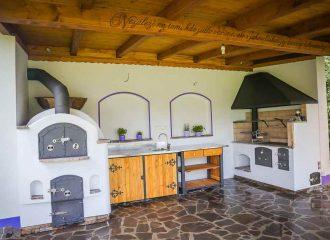 zahradni kuchyně chalupa levandule
