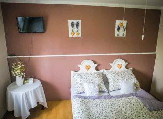 ložnice chalupa levandule