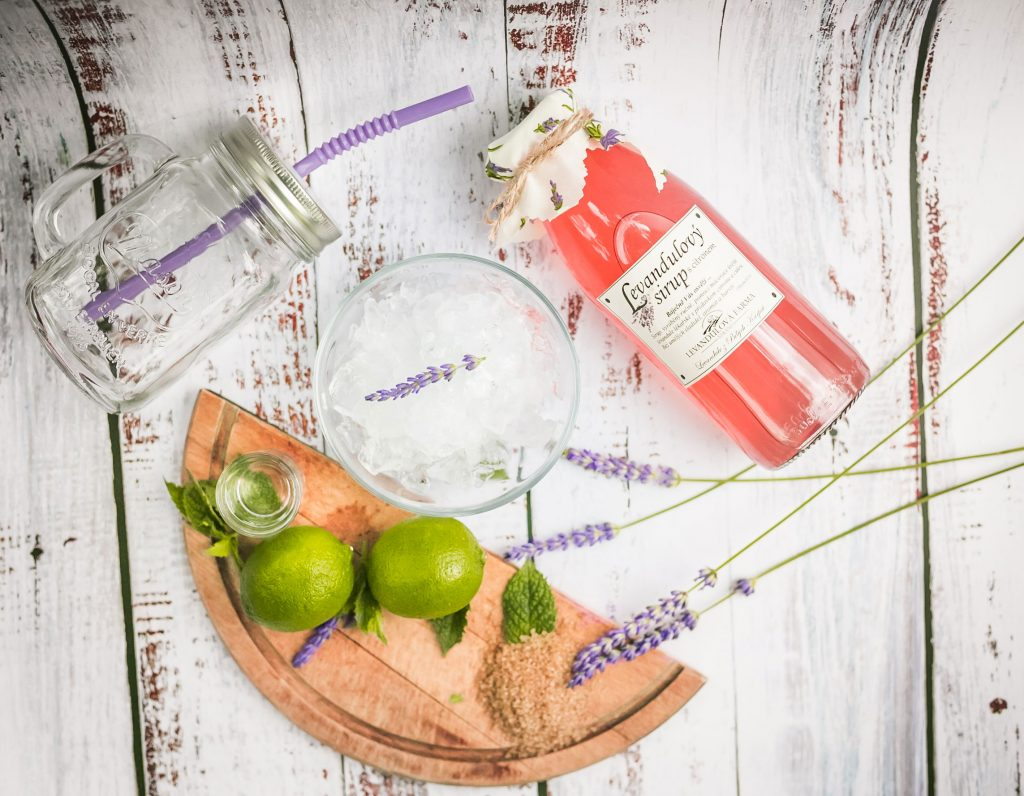 Levandulové mojito - ingredience