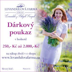Dárkový poukaz z levandulové farmy