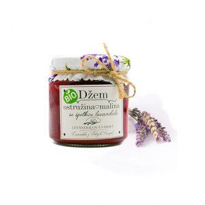 Džem ostružina malina z levandulová farma